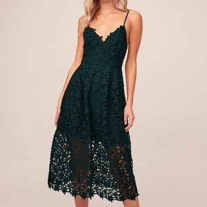 ASTR the label lace a line dress
